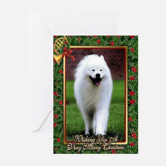 Samoyed Dog Christmas Greeting Cards