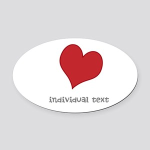 individual text, heart Oval Car Magnet