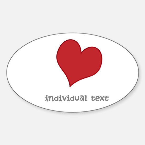 individual text, heart Decal
