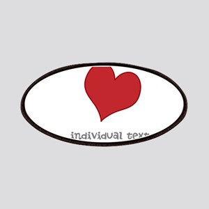 individual text, heart Patches