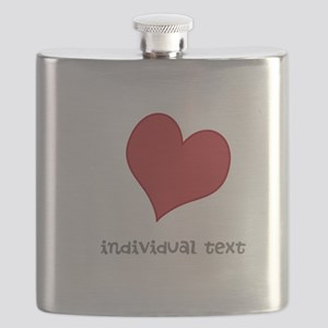 individual text, heart Flask
