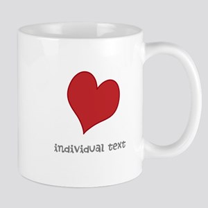 individual text, heart Mugs