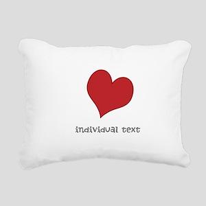 individual text, heart Rectangular Canvas Pillow