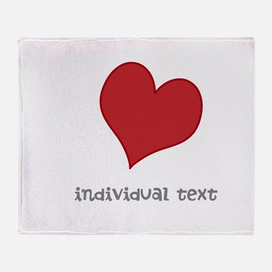 individual text, heart Throw Blanket