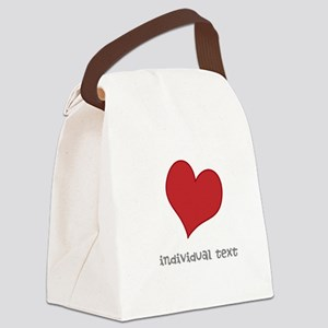individual text, heart Canvas Lunch Bag