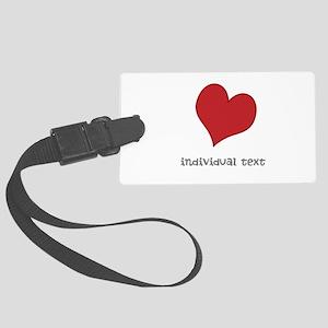 individual text, heart Luggage Tag