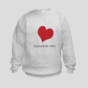 individual text, heart Sweatshirt