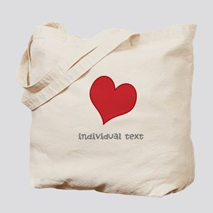 individual text, heart Tote Bag