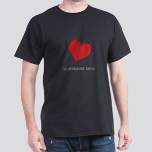 individual text, heart T-Shirt