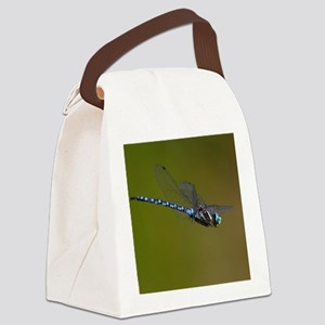 dragonfly in flight Canvas Lunch Bag