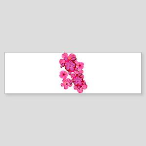 Hawaiian Honu And Hibiscus Sticker (Bumper)