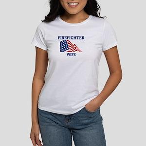Firefighter WIFE (Flag) Women's T-Shirt