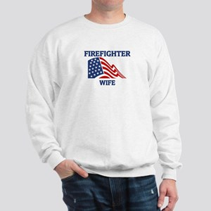 Firefighter WIFE (Flag) Sweatshirt