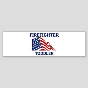 Firefighter TODDLER (Flag) Bumper Sticker