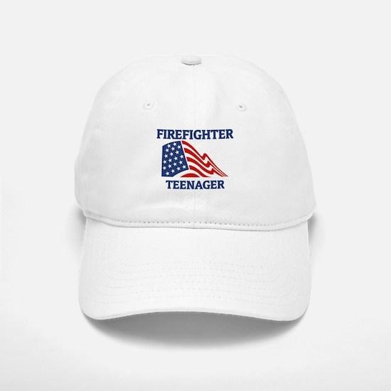 Firefighter TEENAGER (Flag) Baseball Baseball Cap