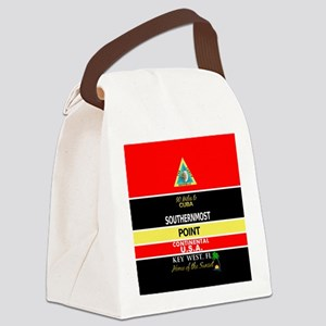 Southernmost Point Buoy Key West Canvas Lunch Bag