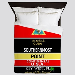 Southernmost Point Buoy Key West Queen Duvet