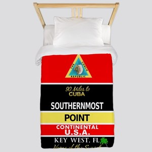 Southernmost Point Buoy Key West Twin Duvet