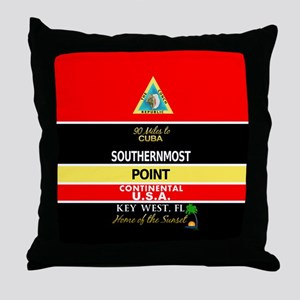 Southernmost Point Buoy Key West Throw Pillow