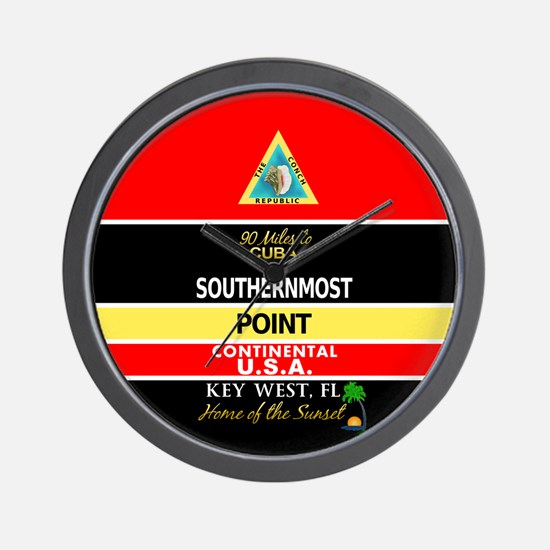 Southernmost Point Buoy Key West Wall Clock