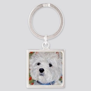 Fuzzy Face Square Keychain