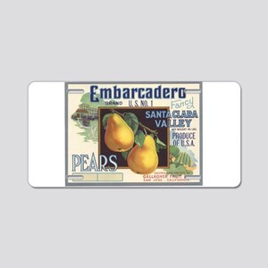 Vintage Fruit Vegetable Crate Label Aluminum Licen