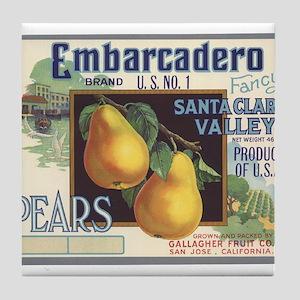 Vintage Fruit Vegetable Crate Label Tile Coaster