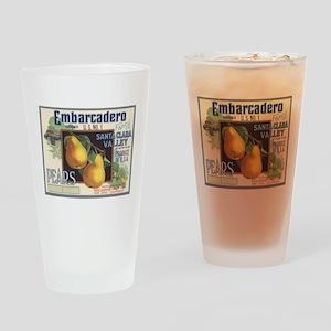 Vintage Fruit Vegetable Crate Label Drinking Glass