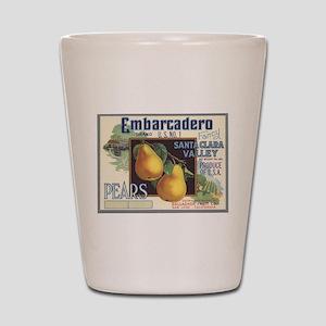 Vintage Fruit Vegetable Crate Label Shot Glass
