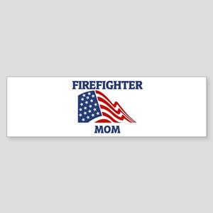 Firefighter MOM (Flag) Bumper Sticker