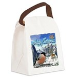 Happy Christmas Canvas Lunch Bag