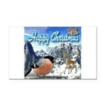 Happy Christmas Rectangle Car Magnet