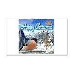 Happy Christmas Car Magnet 20 x 12