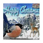 Happy Christmas Tile Coaster