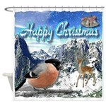 Happy Christmas Shower Curtain