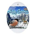 Happy Christmas Ornament (Oval)