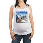 Happy Christmas Maternity Tank Top