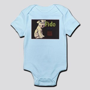 Fido Vintage Fruit Vegetable Crate Label Body Suit
