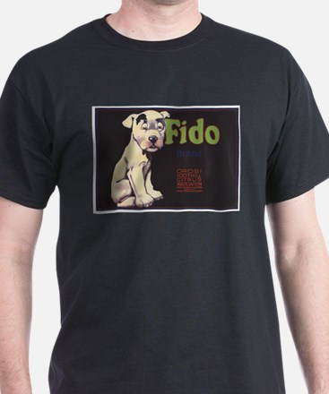 Fido Vintage Fruit Vegetable Crate Label T-Shirt