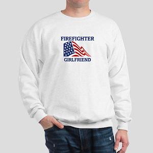 Firefighter GIRLFRIEND (Flag) Sweatshirt