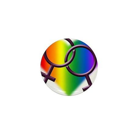 Rainbow Love Gay Pride Mini Button