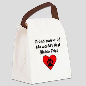 Bichon Frise Parent Canvas Lunch Bag