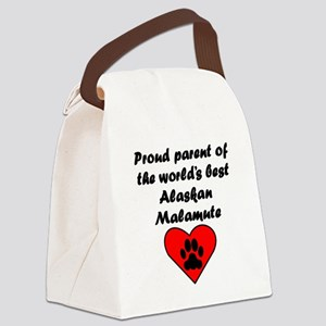 Alaskan Malamute Parent Canvas Lunch Bag