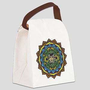 Sunflower Face Canvas Lunch Bag