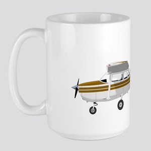 Cessna 172 Skyhawk Brown Large Mug