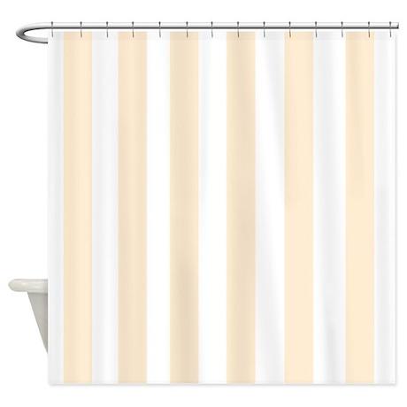 Light Peach Stripes Shower Curtain