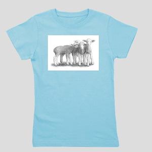 Whisper lambs Girl's Tee-Pastel colors