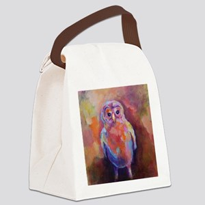 Baby Barred Owl Canvas Lunch Bag
