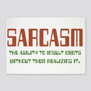 Sarcasm 5'x7'Area Rug