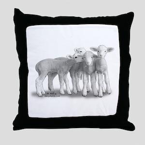 whisperlambs6 Throw Pillow